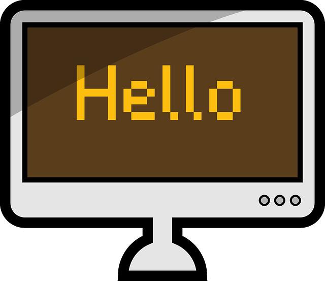pozdrav na monitoru